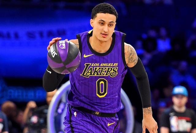 Kyle Kuzma Loses To Mavericks Rookie, Luca Doncic In The First Round Of Skills Challenge